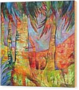 Palm Jungle Wood Print
