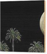 Palm Moon Wood Print