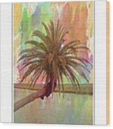 Palm On The Loop Wood Print