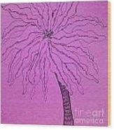 Palm Purple Wood Print