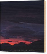 Palm Springs Airport Sunrise  Wood Print