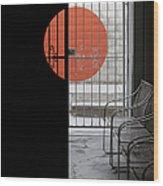 Palm Springs Shadows Wood Print