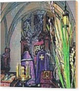 Palm Sunday Liturgy Wood Print by Sarah Loft