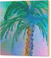 Palm Tree Study Wood Print