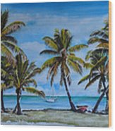 Palm Trees In The Keys Wood Print