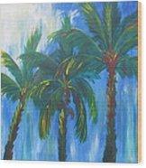 Palm Trio Wood Print