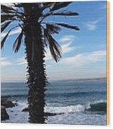 Palm Waves Wood Print