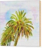 Palmed Colours Wood Print