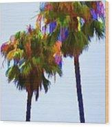Palms 8 Wood Print