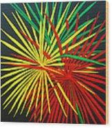 Palms Bursting Wood Print by Roseann Gilmore