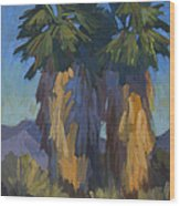 Palms With Skirts Wood Print