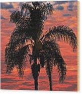 Palmtree Apocalypse Wood Print