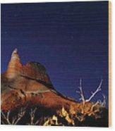 Palo Duro Canyon 2am-114844 Wood Print