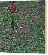 Palo Priest Gathering Herbs Wood Print