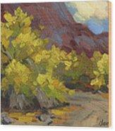 Palo Verde Trees Wood Print