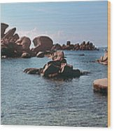 Palombaggia Beach And Rocks, Corsica Wood Print