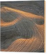 Palouse Contours I Wood Print by Latah Trail Foundation