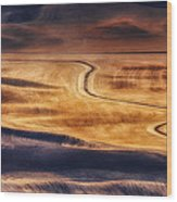 Palouse Curves Wood Print