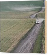 Palouse Dust Trail Wood Print by Latah Trail Foundation