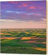 Palouse Land And Sky Wood Print