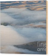 Palouse Morning Mist Wood Print