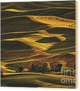 Palouse Sunset From Steptoe Butte Wood Print