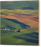 Palouse - Washington - Farms - 1 Wood Print by Nikolyn McDonald