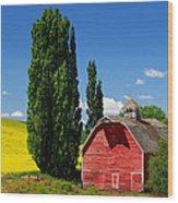 Palouse Weathered Barn Wood Print