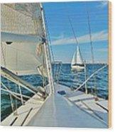 Pamlico Sound Sailing 52 4/14 Wood Print