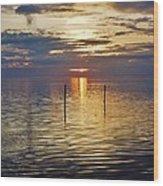 Pamlico Sound Sunset 3 12/5 Wood Print