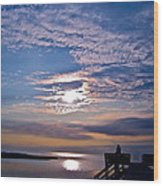 Pamlico Sound Sunset Wood Print
