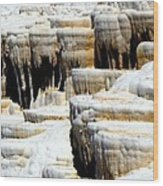 Pamukkale Terraces Wood Print