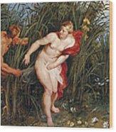 Pan And Syrinx Wood Print