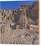 Panaca Formations In Cathedral Gorge State Park Nevada Wood Print