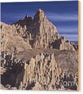 Panaca Sandstone Formations Cathedral Gorge State Park Nevada Wood Print