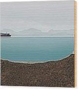 Panama Canal Cross-section, Artwork Wood Print