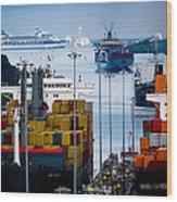 Panama Canal Express Wood Print