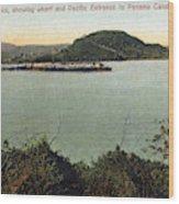 Panama Canal La Boca Wood Print