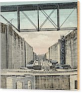 Panama Canal Locks Wood Print