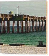 Panama City Beach Pier 2  Wood Print