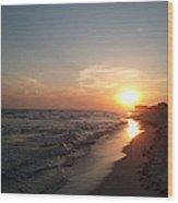 Panama City Beach Sunset Wood Print