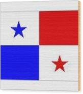 Panama Flag Wood Print