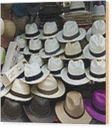 Panama Hats In Ecuador Wood Print