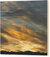Panamint Sunset Wood Print
