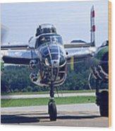 Panchito B 25 J Warbird Wood Print