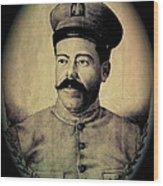 Pancho Villa In Military Uniform Drawing No  Date-2013  Wood Print