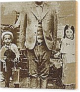 Pancho Villa  Portrait With Children No Location Or Date-2013 Wood Print