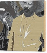 Pancho Villa  Wearing Sombrero Unknown Location 1914-1920-2013 Wood Print