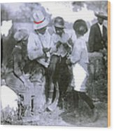 Pancho Villa With Children #1  Durango C. Wood Print