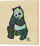 Panda A La Fauvism Wood Print